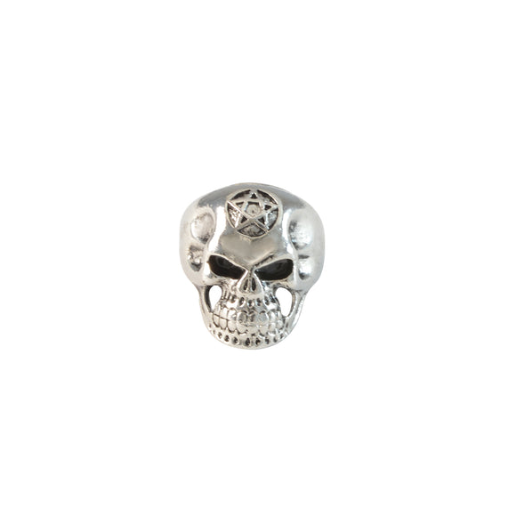 Sarah Broad Head Skull with Star Tattoo on Head Finger Ring for Men