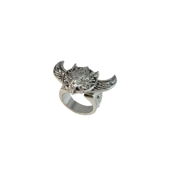 Sarah Fantasy Wolf Symbol Angel Wings Rotatable Finger Ring for Men