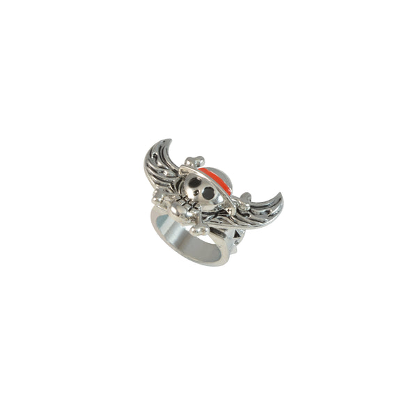 Sarah Anime Souvenir One Piece Symbol Angel Wings Rotatable Finger Ring for Men