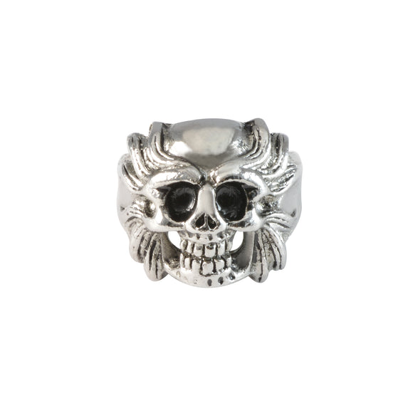 Sarah Lion Head with Skull Finger Ring for Men