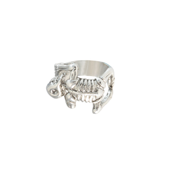 Sarah Vintage Finger Rings Gothic Halloween Crawling Skeleton Finger Ring for Men