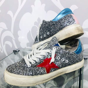 Golden Goose May Glitter Sneakers Size