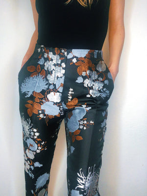 Dries Van Noten Cropped Floral Trousers Size 36