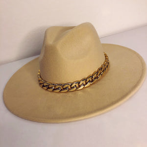 PIVOT Chloe Chain Wide Brim Hat