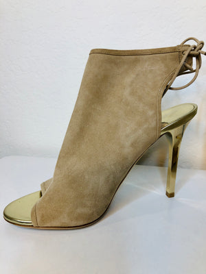 Jimmy Choo Sand Suede Open Toe Booties Size 39