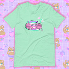 Load image into Gallery viewer, mint t-shirt with barbie boombox