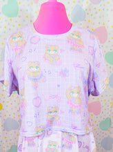 Load image into Gallery viewer, purple ballerina bear crop top