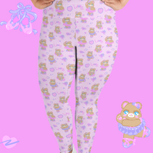 Load image into Gallery viewer, pink ballerina bear leggings