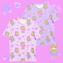 Load image into Gallery viewer, pink and purple ballerina bear t-shirts