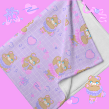Load image into Gallery viewer, purple ballerina bear blankets