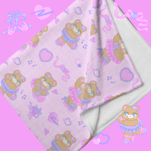 Load image into Gallery viewer, pink ballerina bear blankets