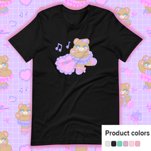 black t-shirt with ballerina bear