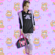 Load image into Gallery viewer, model wearing barbie boombox leggings, ballet slipper t-shirt, and legwarmers