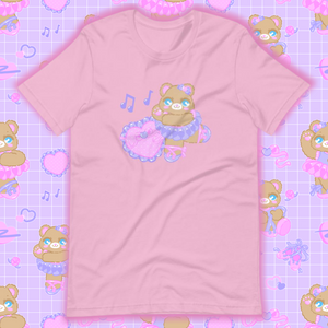 lilac t-shirt with ballerina bear