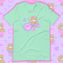 Load image into Gallery viewer, mint t-shirt with ballerina bear