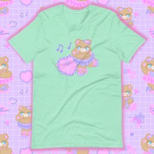 mint t-shirt with ballerina bear