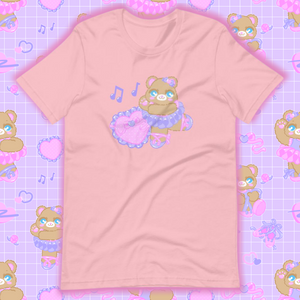 pink t-shirt with ballerina bear