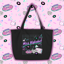 Load image into Gallery viewer, 90's barbie boombox miss alphabet logo tote bag