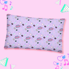 Load image into Gallery viewer, pillow with pink barbie 90s boombox print