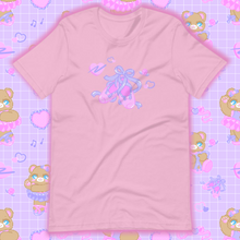 Load image into Gallery viewer, lilac t-shirt with ballet slippers