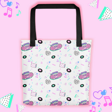 Load image into Gallery viewer, tote bag with pink barbie boombox print