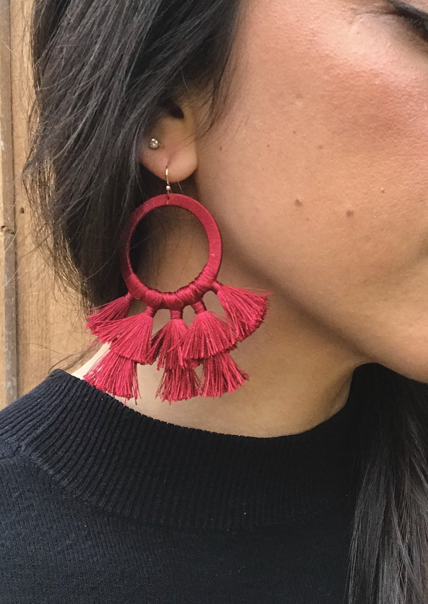 red-tassel-earrings-fashion-accessories