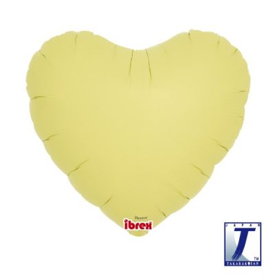 Hearts 14inch Pastel Yellow
