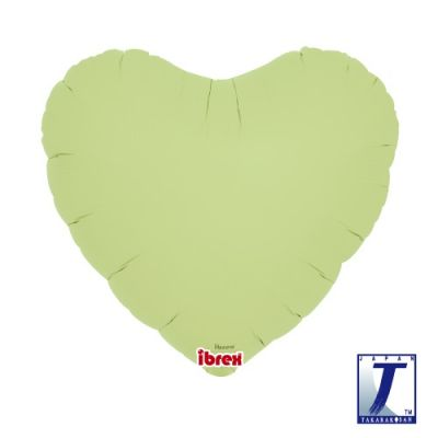 Hearts 14inch Pastel Green