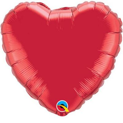 Foil Hearts 90cm Red