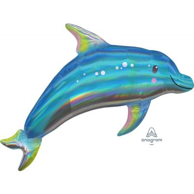Holographic Iridescent Dolphin