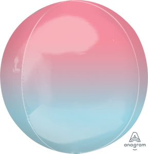Pastel Pink and Blue Orbz 40cm