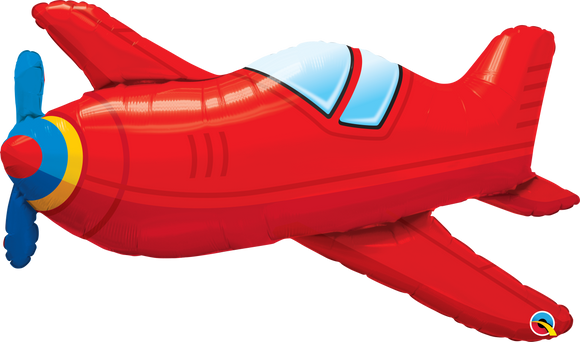 Red Vintage Airplane 36inch