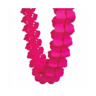 Honey Comb Garland Magenta