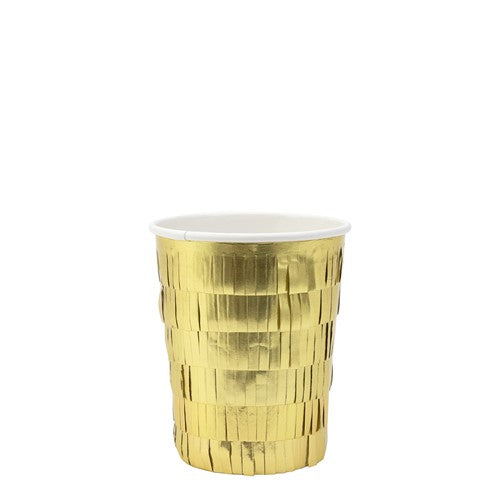 Gold Fringe Party Cups 8pack