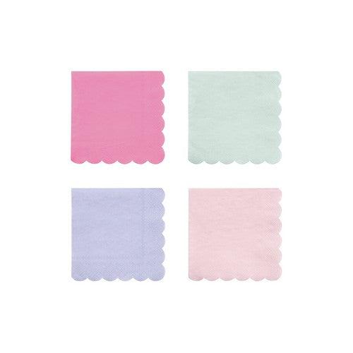 Multicolour Small Napkins 20Set 4Asst