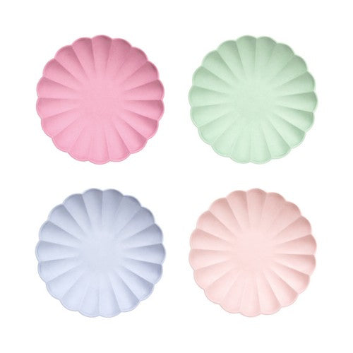 Multi colour Eco plates Small 8pack