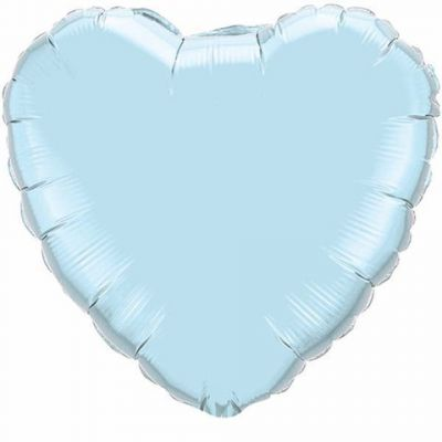 Foil Hearts 90cm Pearl Light Blue