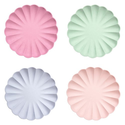 Multi colour Eco plates Large 8pack