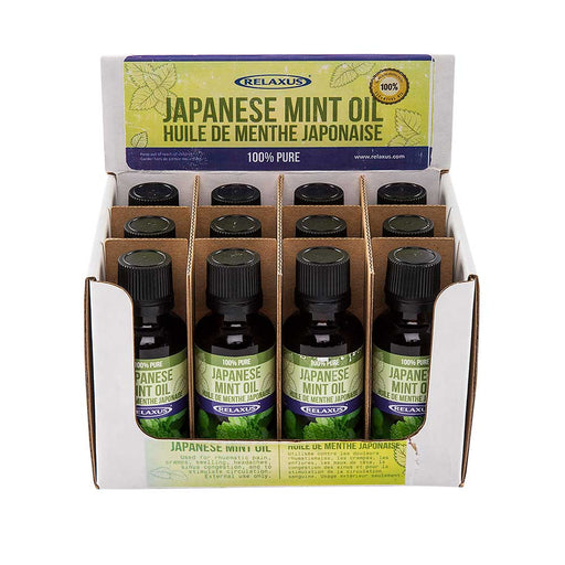 Wholesale Japanese Mint Oil 30 ml Bottle Displayer of 12