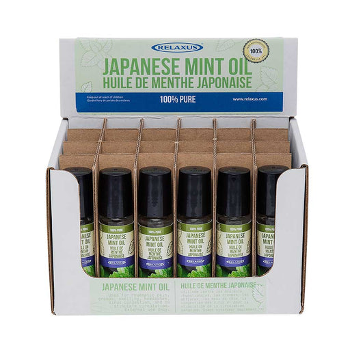 Wholesale Japanese Mint Oil 10 ml Roll-On Displayer of 24