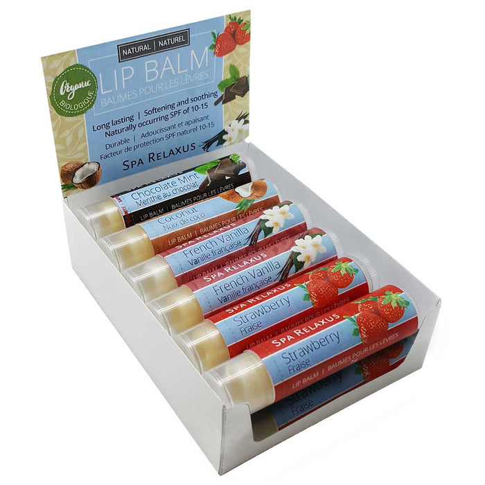 Wholesale Organic Lip Balm Displayer of 12