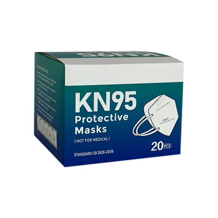 Wholesale KN95 Face Mask with Ear Loops (20 per box) 5-Layer BFE & PFE ≥ 95%