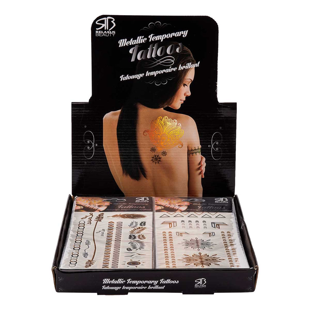 Relaxus Beauty Wholesale Metallic Body Tattoos