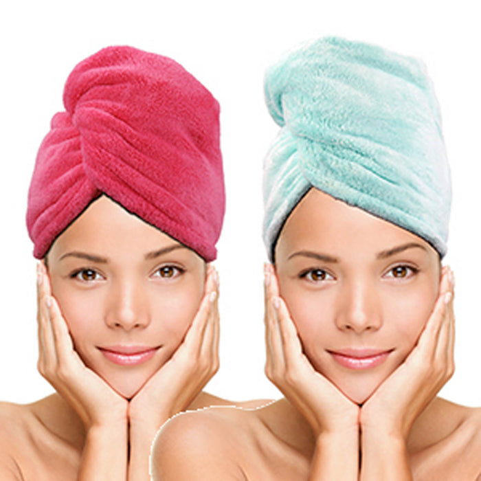 Twist & Dry Quick Dry Hair Towel 2-Pack lifestyle