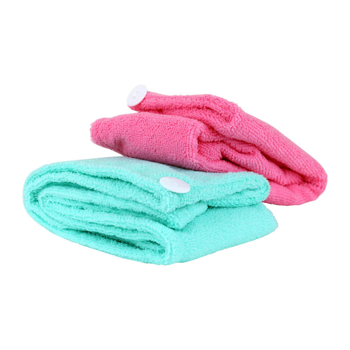 Twist & Dry Quick Dry Hair Towel 2-Pack