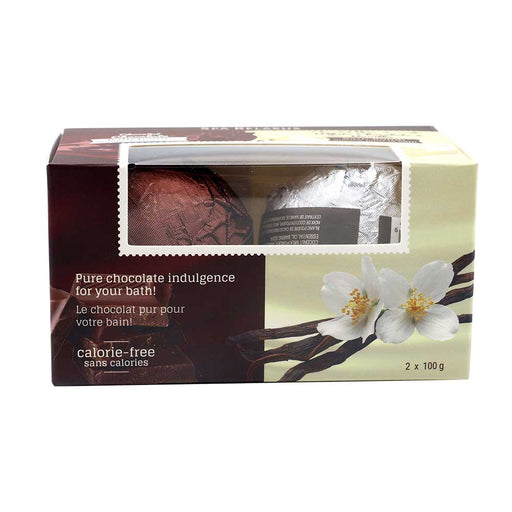 Wholesale Chocolate Bath Bombs 2 Piece Gift Set (2 x 100 g) Displayer of 8