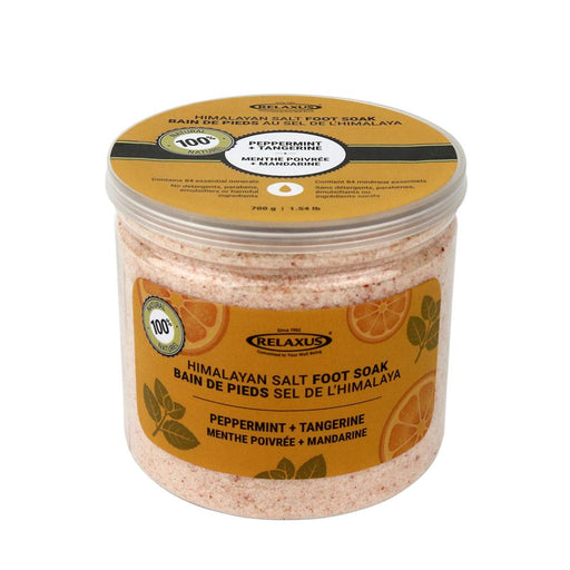 Wholesale Peppermint & Tangerine Himalayan Salt Foot Soak (700 g)
