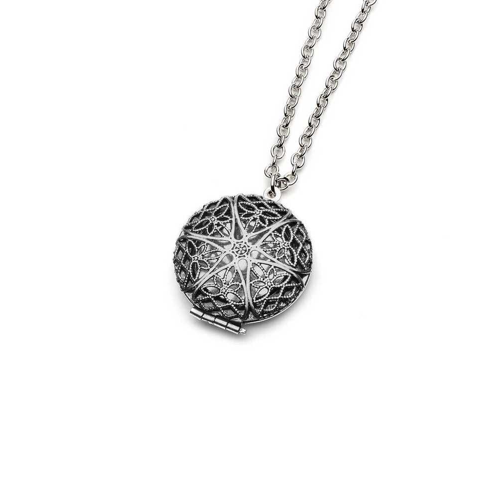 Aromatherapy Mandala Silver Locket Necklaces