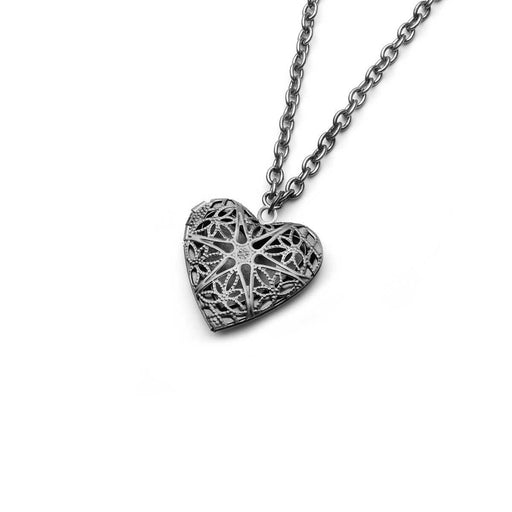 Aromatherapy Heart Silver Locket Necklaces