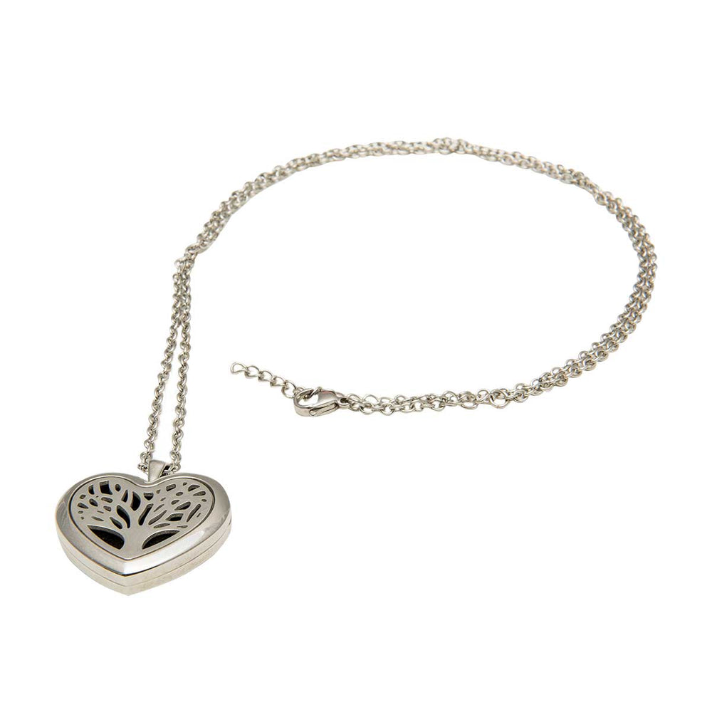 Wholesale Aromatherapy Heart Locket Necklace
